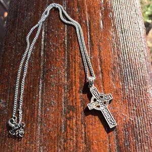 Jewelry - Silver Celtic Cross Necklace